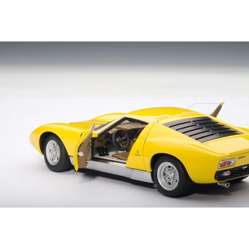 Lamborghini Miura Sv Yellow 1 43 Diecast Model Car By Autoart Target