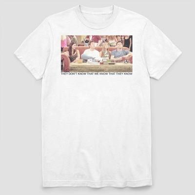 Men's Warner Bros. Friends Group Couch Short Sleeve Crewneck T-Shirt - White