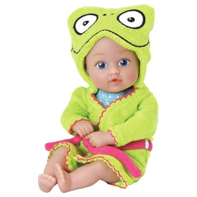 Adora Baby Bath Toy Frog, 8.5 inch Bath Time Baby Tot Doll with QuickDri Body