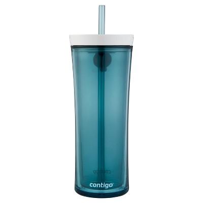 Contigo Shake & Go 20oz Straw Tumbler Cloudy Turquoise