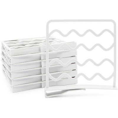 Juvale 12 Pack Shelf Dividers for Closets, Spacers for Cabinets (10.8 x 10 in)