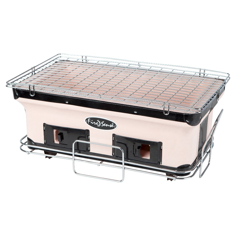 Image of Fire Sense Rectangle Yakatori Charcoal Grill - Model 60450.0, Tan
