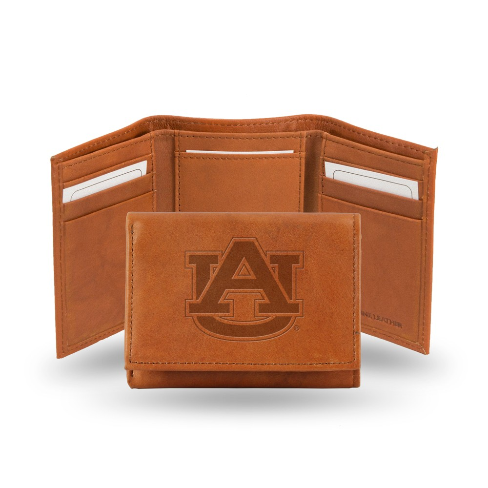 Auburn Tigers Rico Industries Embossed Leather Trifold Wallet