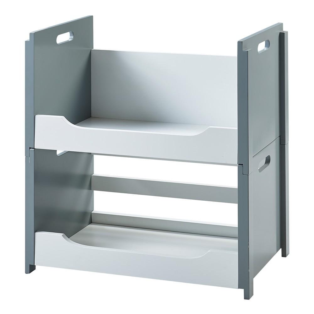 Image of Cubo Stacking Storage Unit Set A&B - White/Gray - Versanora