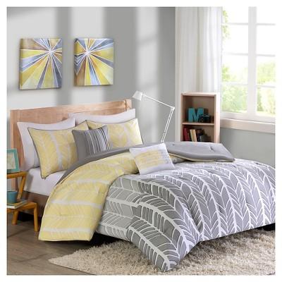 Amanda Comforter Set (Full/Queen)5pc - Yellow