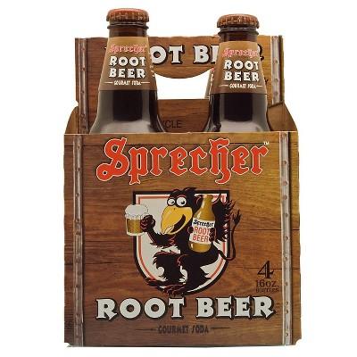 Sprecher Root Beer - 4pk/16 fl oz Glass Bottles