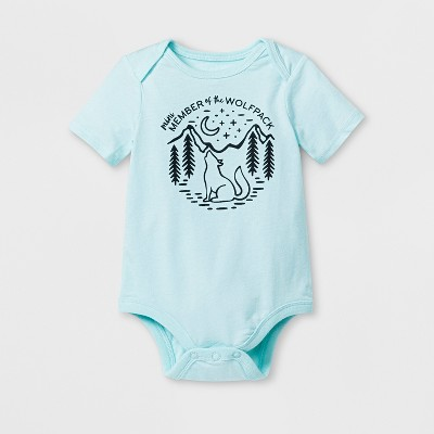 Baby 'Wolfpack' Graphic Bodysuit - Cat & Jack™ Aqua 12M