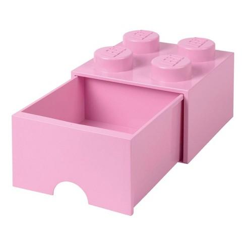 Room Copenhagen LEGO Brick Drawer, 4 Knobs, 1 Drawer, Stackable Storage Box, Light Pink - image 1 of 1