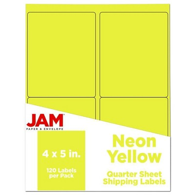 "JAM Paper Shipping Labels 4"" x 5"" 120ct"