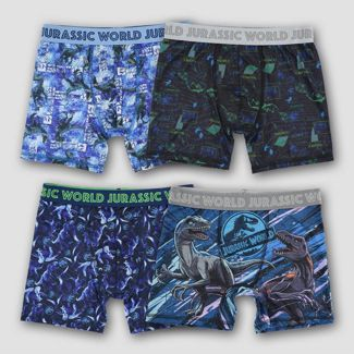 Boys' Jurassic World: Fallen Kingdom 4pk Boxer Briefs - 6