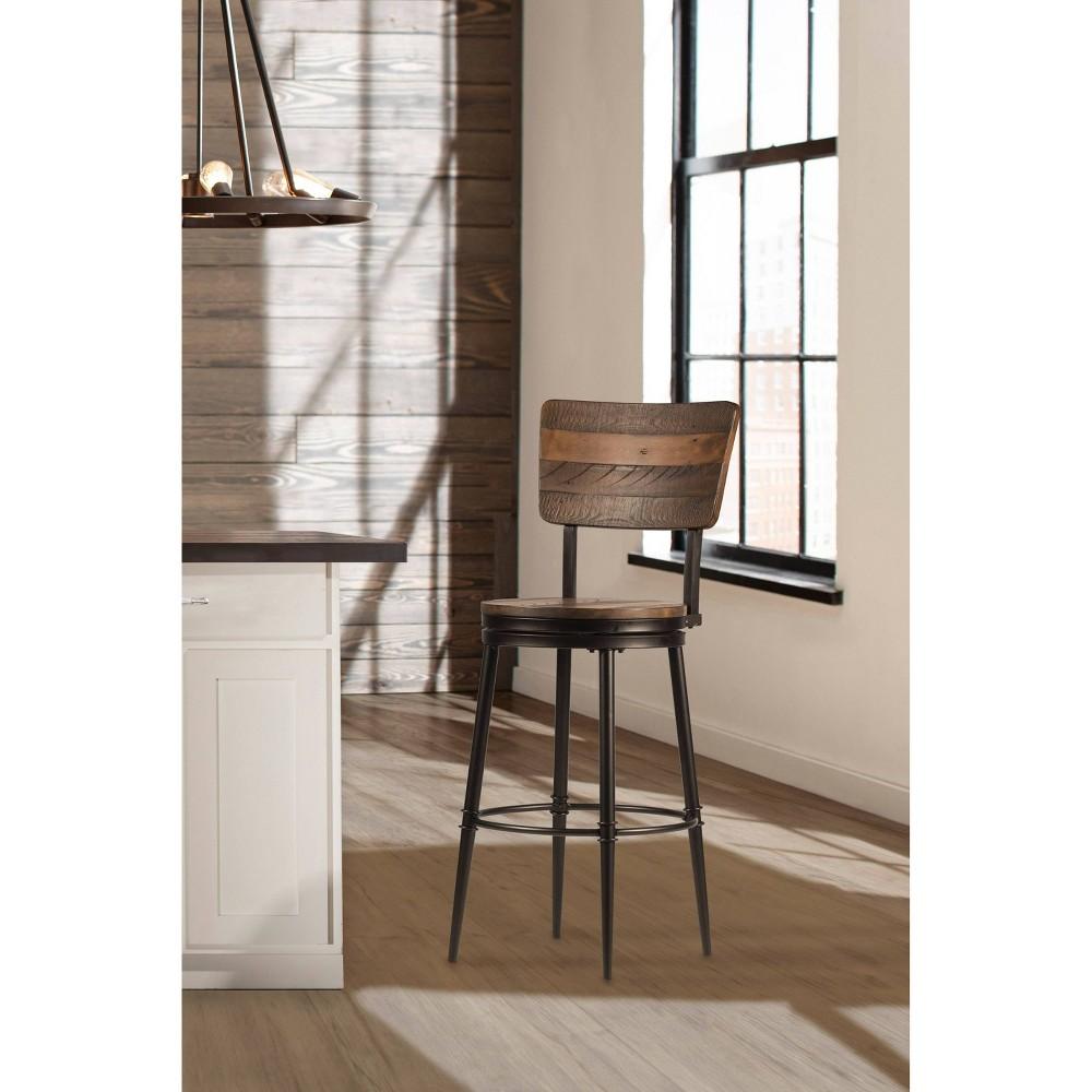 Jennings Counter Stool - Distressed Walnut (Brown) - Hillsdale Furniture