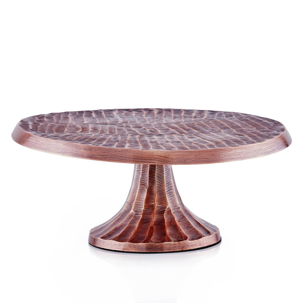 "Image of ""Old Dutch 12.8"""" Metal Tribal Antique Cake Stand Copper"""