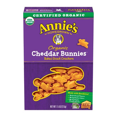 Annie's Cheddar Bunnies Baked Snack Crackers - 7.5oz - image 1 of 3