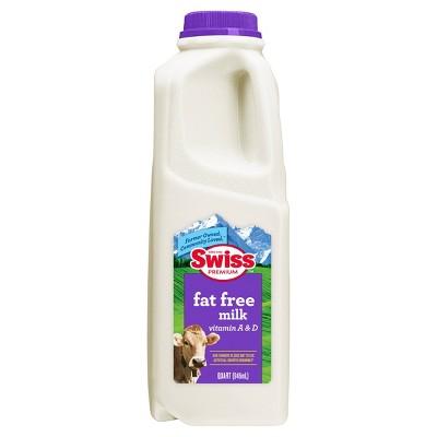 Swiss Premium Fat-Free Skim Milk - 1qt