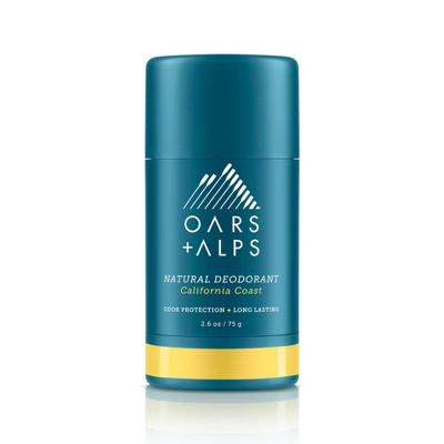 Oars + Alps Men's Aluminum-Free Natural Deodorant - California Coast- 2.6oz