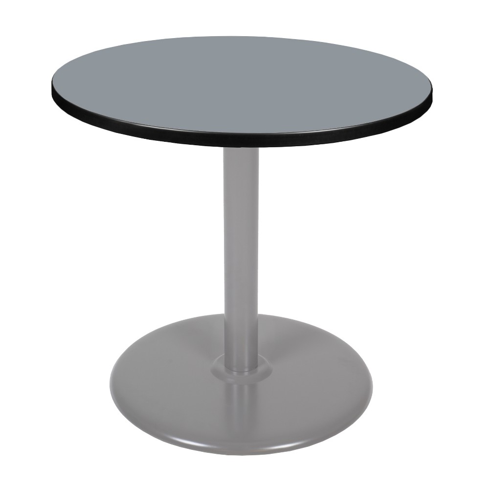 30 34 Via Round Platter Base Dining Table Gray Regency
