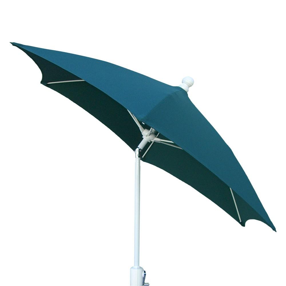 FiberBuilt 9' Patio Umbrella Forest Green, White