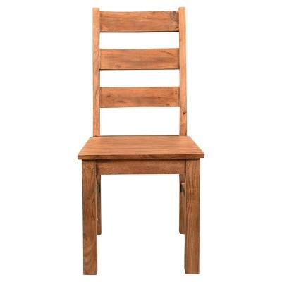 Angled Acacia Wood Chair   (Set Of 2)   Timbergirl