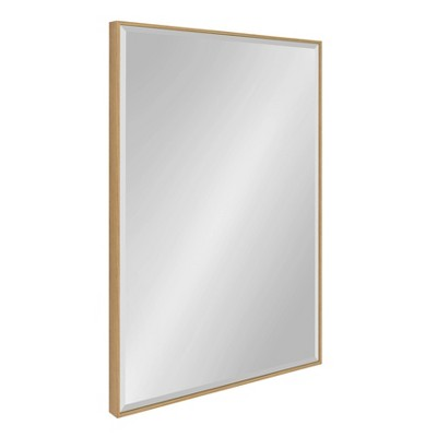 "25"" x 37"" Rhodes Framed Wall Mirror Natural - Kate and Laurel"