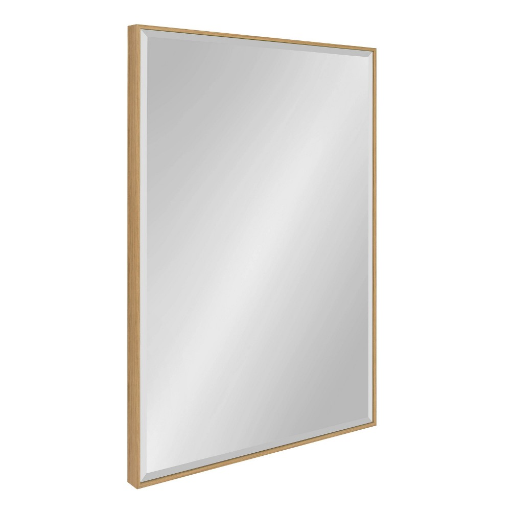 "Image of ""24.75""""x36.75"""" Rhodes Framed Wall Mirror Natural - Kate and Laurel"""