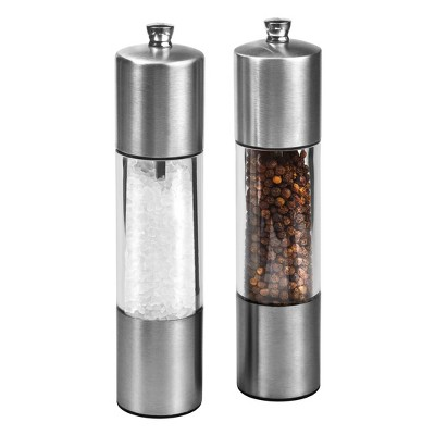 """Cole & Mason 8"""" Stainless Steel Salt and Pepper Mill Set"""