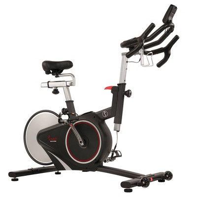 Sunny Health & Fitness Magnetic Belt Drive Premium Indoor Cycling Bike - Silver