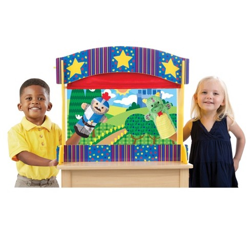 Melissa & Doug Tabletop Puppet Theater - Sturdy Wooden Construction - image 1 of 4