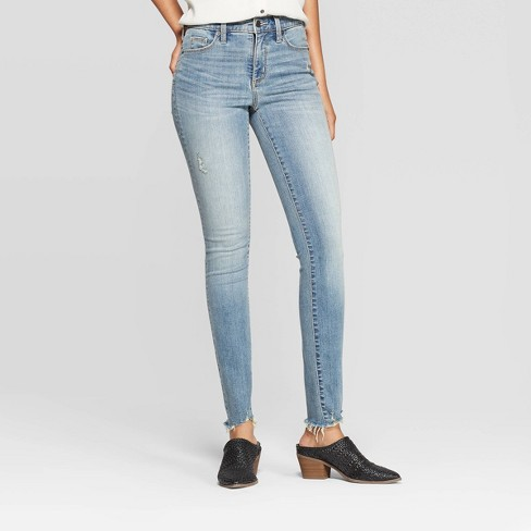 Women's Distressed High-Rise Skinny Jeans - Universal Thread™ - image 1 of 6