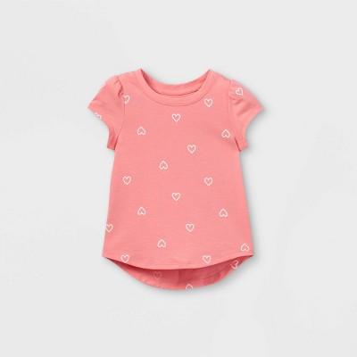 Toddler Girls' Heart Short Sleeve T-Shirt - Cat & Jack™ Pink