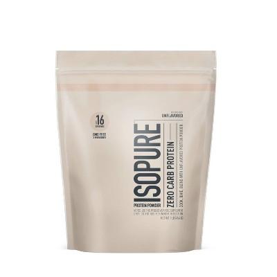 Isopure Unflavored Zero Carb Protein Powder - 16oz