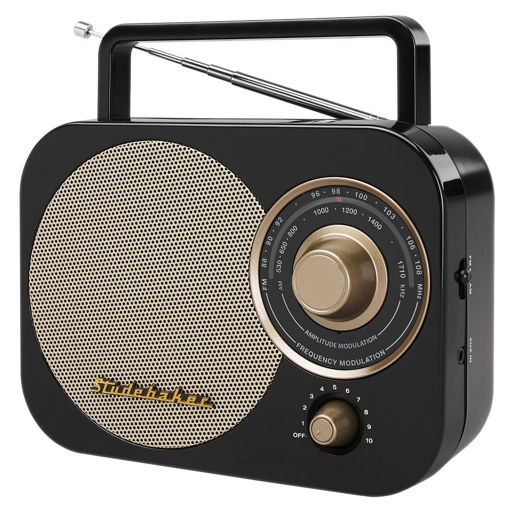 Studebaker Portable Am Fm Radio Sb2000 Black