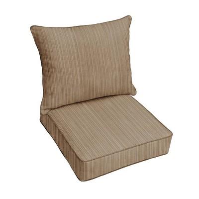 Sunbrella Textured Outdoor Seat Cushion Brown