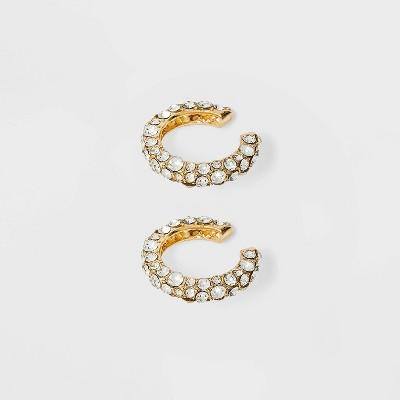 SUGARFIX by BaubleBar Crystal Deco Ear Cuffs - Clear