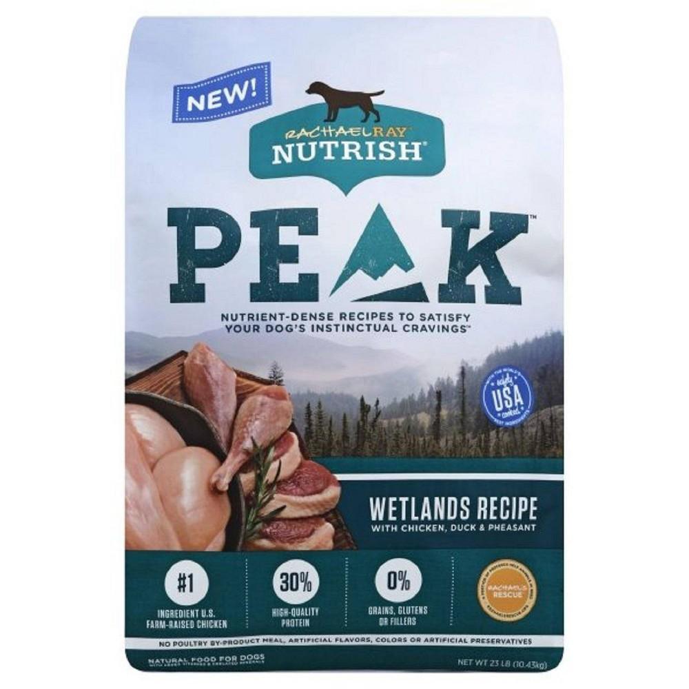 Rachael Ray Nutrish Peak Grain Free Wetlands Recipe With Chicken Duck 38 Pheasant Dry Dog Food 23lbs