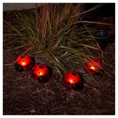 Charmant Smart Living Solar LED Ladybug, Set Of 4 : Target