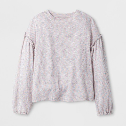 Girls\' Long Sleeve Sweater Knit Top - Art Class&#15 : Target