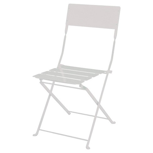 Metal Folding Chair White - Threshold™ - image 1 of 1
