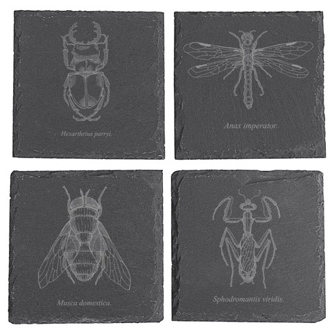 4pc Halloween Insect Slate Coasters - image 1 of 3