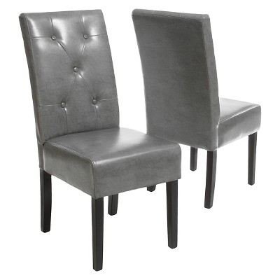 Taylor Bonded Leather Dining Chair Set 2ct - Christopher Knight Home