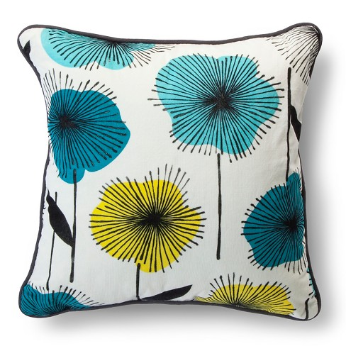 "Floral Burst Print Pillow - Cool (18x18"") - Room Essentials™ - image 1 of 2"