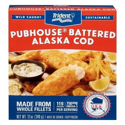 Trident Pubhouse Battered Cod - Frozen - 12oz