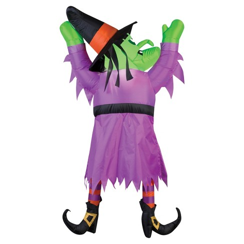 """60"""" Halloween Inflatable Witch From Roof - image 1 of 1"""