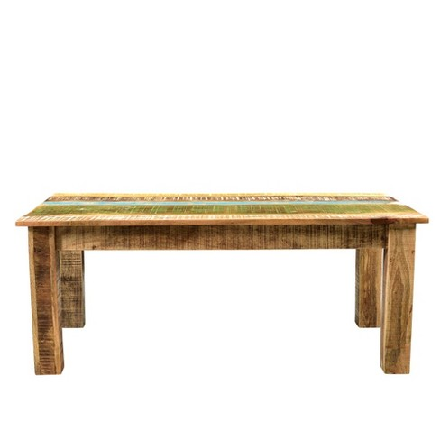 Suman Solid Mango Wood Coffee Table Natural Timbergirl Target
