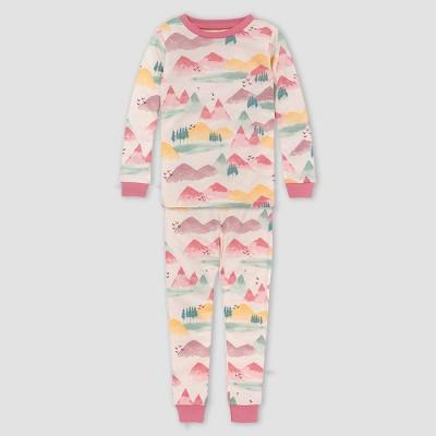 Burt's Bees Baby® Girls' 2pc Mountains Organic Cotton Pajama Set - Cream