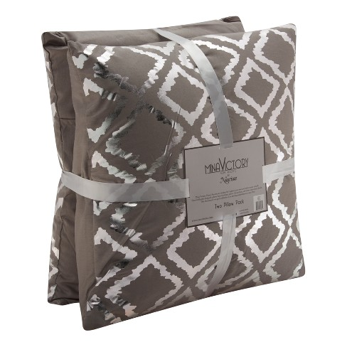 Silver Gray Quatrefoil Throw Pillow - Mina Victory - image 1 of 5