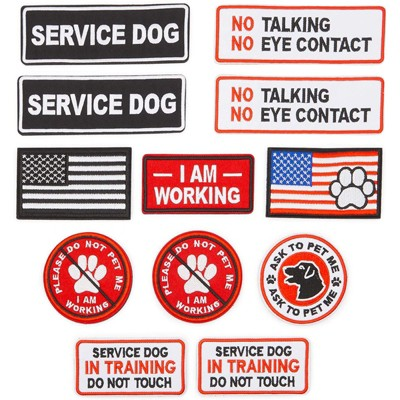 Okuna Outpost 12 Pack Service Dog Vest Patches (8 Designs)