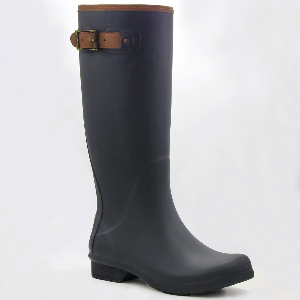 Women's Chooka City Tall Matte Rain Boot - Black 9