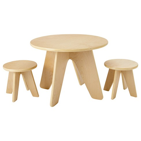 Ecr4kids Dart Table Wooden And Stools Seating Set For Kids