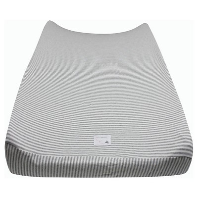Burt's Bees Baby® Organic Changing Pad Cover - Stripe - Heather Gray