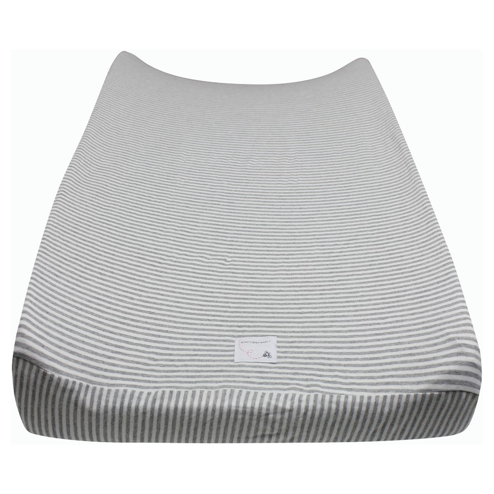 Burt's Bees Baby Organic Changing Pad Cover - Stripe - Heather Gray